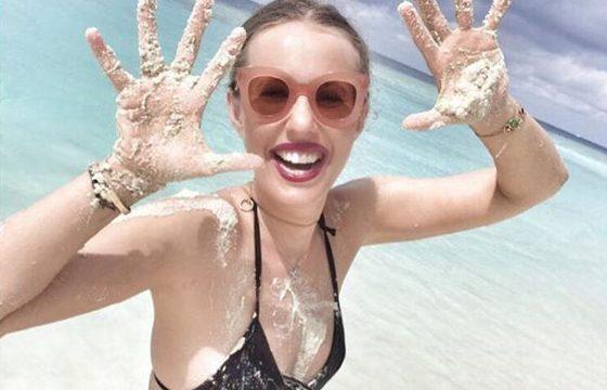 Пляжное фото Ксении Собчак испугало пользователей.