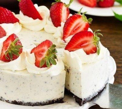 Творожный чизкейк без выпечки с печеньем Орео