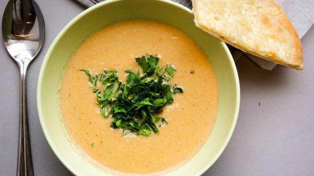Кукурузный суп-пюре с сыром