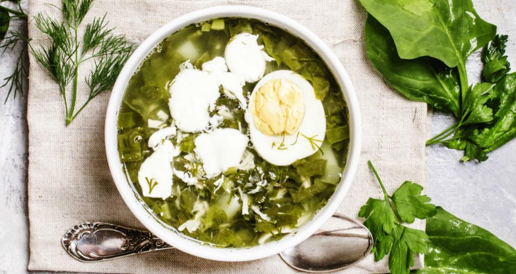 Щавелевый суп по‑деревенски