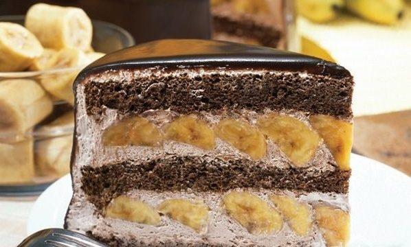Торт «Норка крота» (шоколадно-банановый)