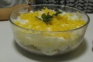 Вкусный мясной салат с овощами - рецепт